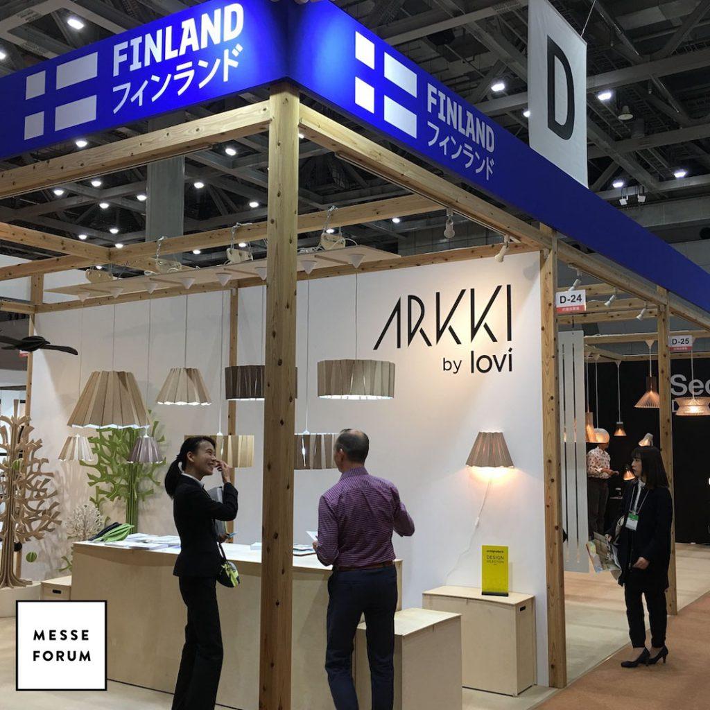 Suomi-paviljonki messuosasto